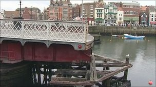 Whitby's swing bridge