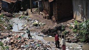 Kibera is Kenya's largest slum (file picture)