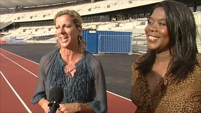 Sally Gunnell and Tessa Sanderson