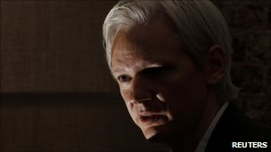 Wikileaks founder Julian Assange speaks at a news conference at the Frontline Club in central London