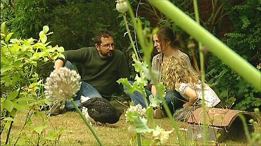 Dr Richard Jones and his wife Dr Naomi Sykes in their garden in Upton near Newark in Nottinghamshire
