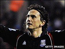 Stoke City striker Tuncay