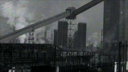 Ebbw Vale steelworks in 1958