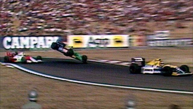 Senna hits Nannini