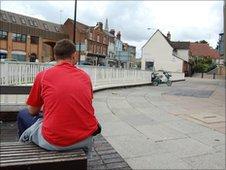 Benches on St Matthews Street, Ipswich