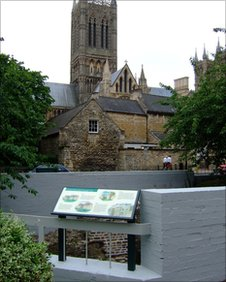 The site of the Eastgate Roman Tower