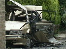 The car in which Ian Gow was killed by an IRA bomb.