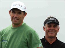 Padraig Harrington and Darren Clarke