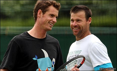 Andy Murray and Miles Maclagan