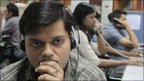 Worker at Indian call centre