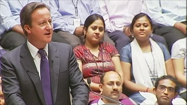 David Cameron speech to Infosys in Bangalore