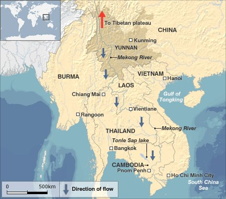 Map of the Mekong River