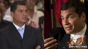 Fabricio Correa (left) and Rafael Correa (right) in archive photos