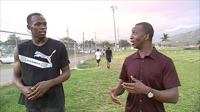 Usain Bolt and Michael Johnson