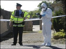 Irish police at scene of bomb find