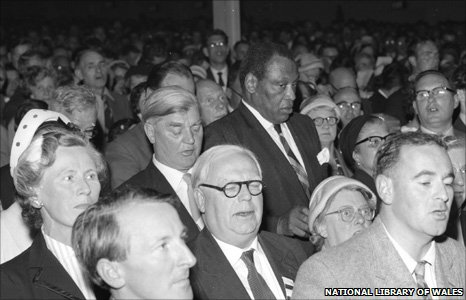 Aneurin Bevan and Paul Robeson at the 1958 eisteddfod