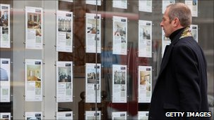 Estate agent's window