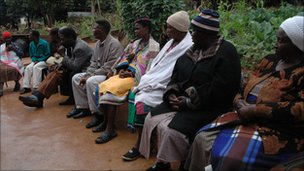 Some members of the Dzomo la Mupo at a meeting in Thohoyandou, Limpopo