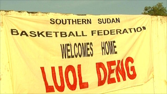 Flag welcoming Luol Deng
