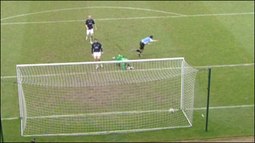 Paul McGowan scores for Hamilton against Falkirk
