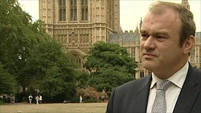 Employment Relations Minister Edward Davey