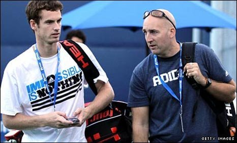 Andy Murray and fitness coach Jez Green in Los Angeles