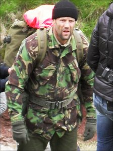 Jason Statham filming in the Brecon Beacons on Wednesday