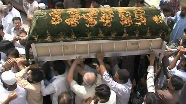 Funeral of air crash victim