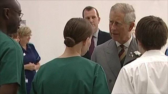 The Prince of Wales at the Queen Elizabeth Hospital