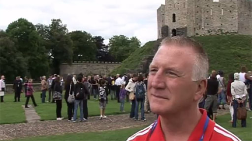 Colin Jones at Cardiff Castle