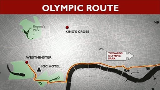 Olympic route map