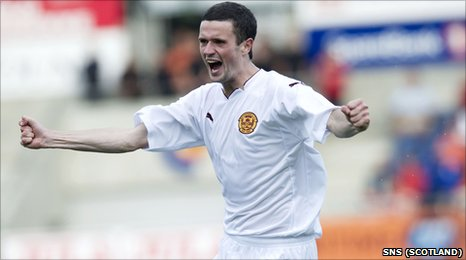 Jamie Murphy celebrates his strike against Aalesund in Norway