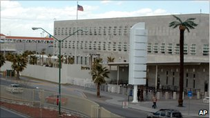 US consulate, Ciudad Juarez (file photo)