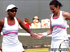 British doubles number one Sarah Borwell (right) and her American partner Raquel Kops-Jones