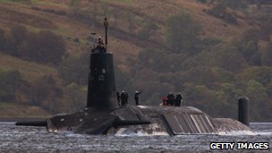 Trident submarine pictured in September 2009