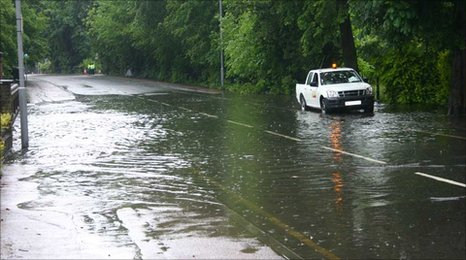 Flooding on New Bedford Road