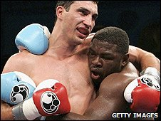 Wladimir Klitschko and Samuel Peter