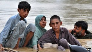 Victims of Pakistani flooding