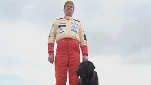 Mike Newman, with his guide dog