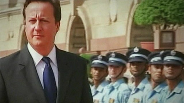 David Cameron at Indian guard parade
