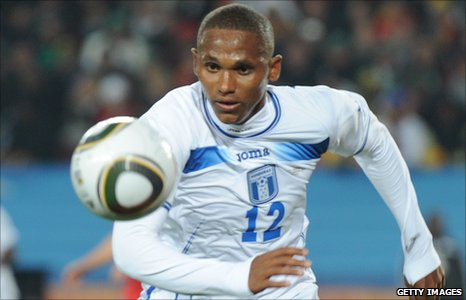 Honduras striker Georgie Welcome