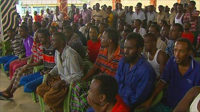 Dozens of suspected pirates awaiting trial