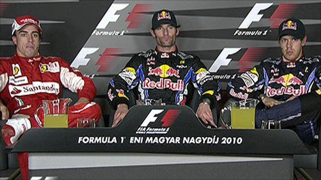 Top three drivers at Hungary GP