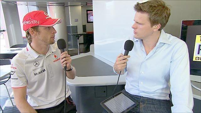 Jenson Button and Jake Humphrey