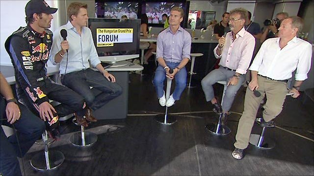 Mark Webber with the BBC F1 forum