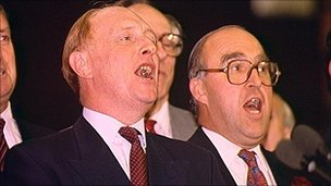 Neil Kinnock and John Smith in 1991