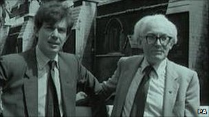 Tony Blair and Michael Foot in 1982