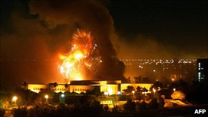 Bombing of Saddam Hussein's palace in March 2003