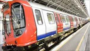 One of the new trains which will serve the Metropolitan Line