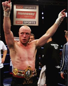 Jon Thaxton celebrates finally securing the British title